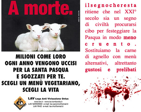 contro strage degli agnelli