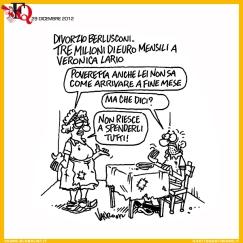 Divorzio Berlusconi vignetta