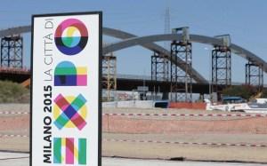 Il presidente del consiglio Enrico Letta in visita ai cantieri Milano Expo 2015